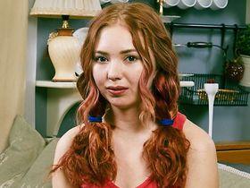 Мастурбация казахской рыжеволосой девственницы